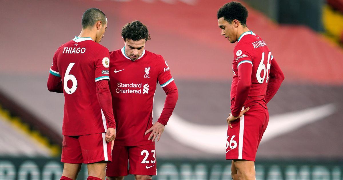 Thiago Alcantara, Xherdan Shaqiri, Trent Alexander-Arnold Liverpool v Burnley January 2021