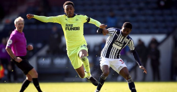 Joe Willock, Ainsley Maitland-Niles West Brom v Newcastle March 2021