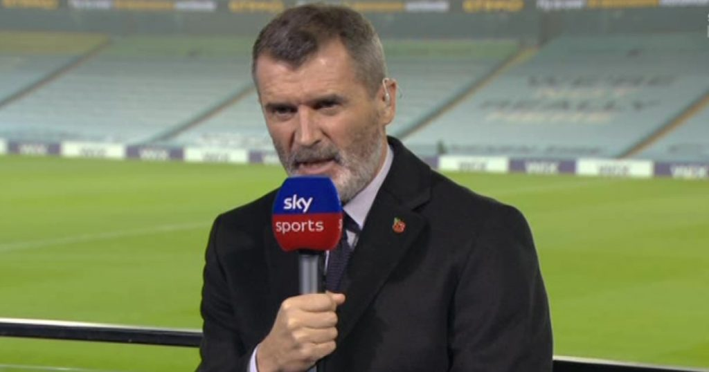 Roy Keane pundit - pic via Sky Sports