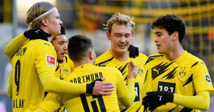 Erling Haaland, Jadon Sancho, Raphael Guerreiro, Julian Brandt, Giovanni Reyna, Borussia Dortmund