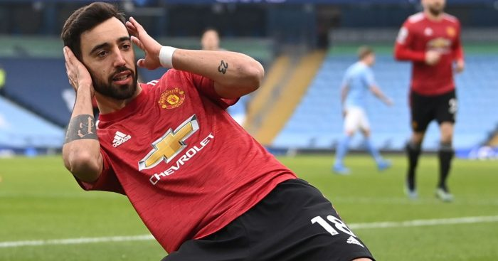 Bruno Fernandes, Manchester United celeb v Man City