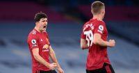 Harry Maguire, Scott McTominay Man City v Man Utd March 2021
