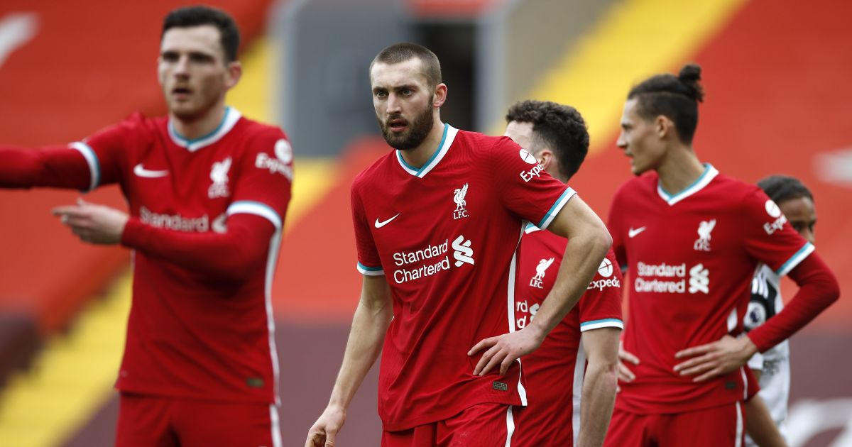 Andy Robertson, Nathaniel Phillips Liverpool v Fulham March 2021