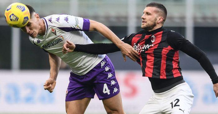 Nikola Milenkovic, Ante Rebic AC Milan v Fiorentina November 2020