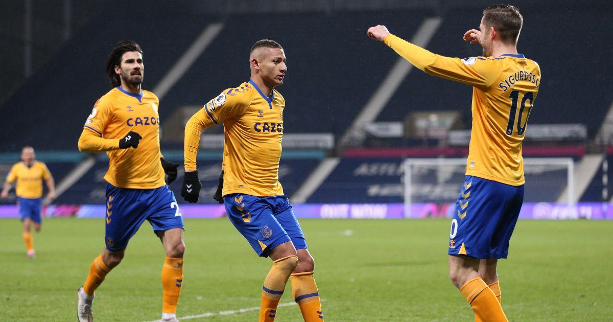 Richarlison, Gylfi Sigurdsson West Brom v Everton March 2021