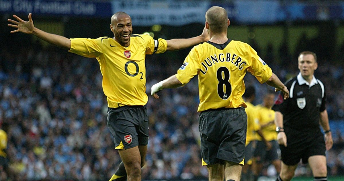 Thierry Henry, Freddie Ljungberg Arsenal