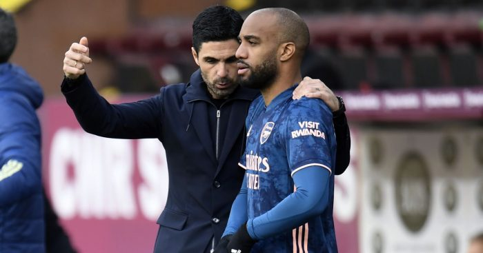 Lacazette Arteta TEAMtalk