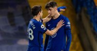 Cesar Azpilicueta, Kai Havertz Chelsea v Everton March 2021