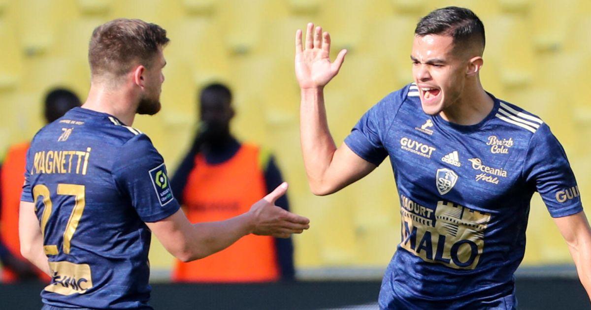 Brest midfielder Romain Faivre