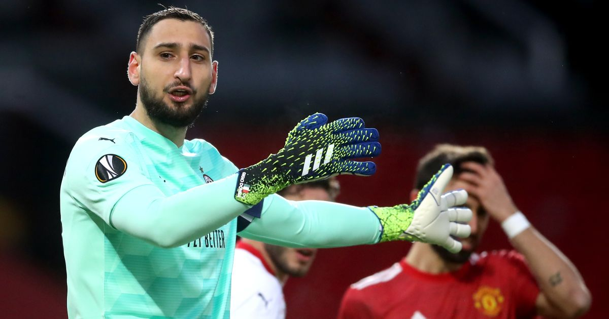 Gianluigi Donnarumma Man Utd v AC Milan March 2021