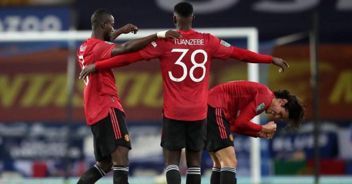 Eric Bailly, Axel Tuanzebe Everton v Man Utd December 2020