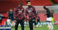 Georginio Wijnaldum, Mohamed Salah Liverpool v Midtjylland October 2020