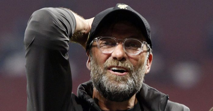 Jurgen Klopp close up of Liverpool boss