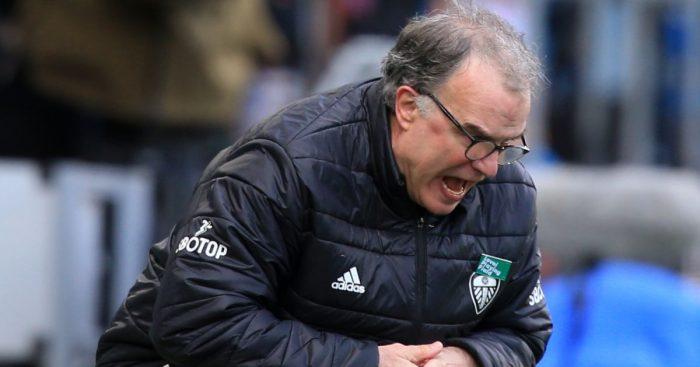 Marcelo Bielsa shouts orders Leeds v Chelsea
