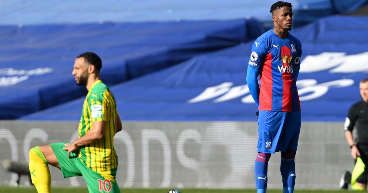 Wilfried Zaha refuses to take the knee, Crystal Palace v West Brom