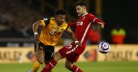 Adama Traore, Ozan Kabak Wolves v Liverpool March 2021