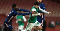 Ainsley Maitland-Niles, Yusuf Demir Arsenal v Rapid Vienna December 2020