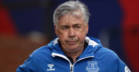 Carlo Ancelotti, Everton boss frustrated