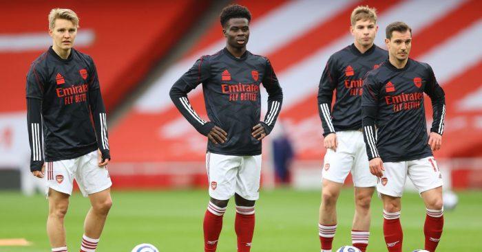 Martin Odegaard, Bukayo Saka, Emile Smith Rowe, Cedric Soares Arsenal TEAMtalk