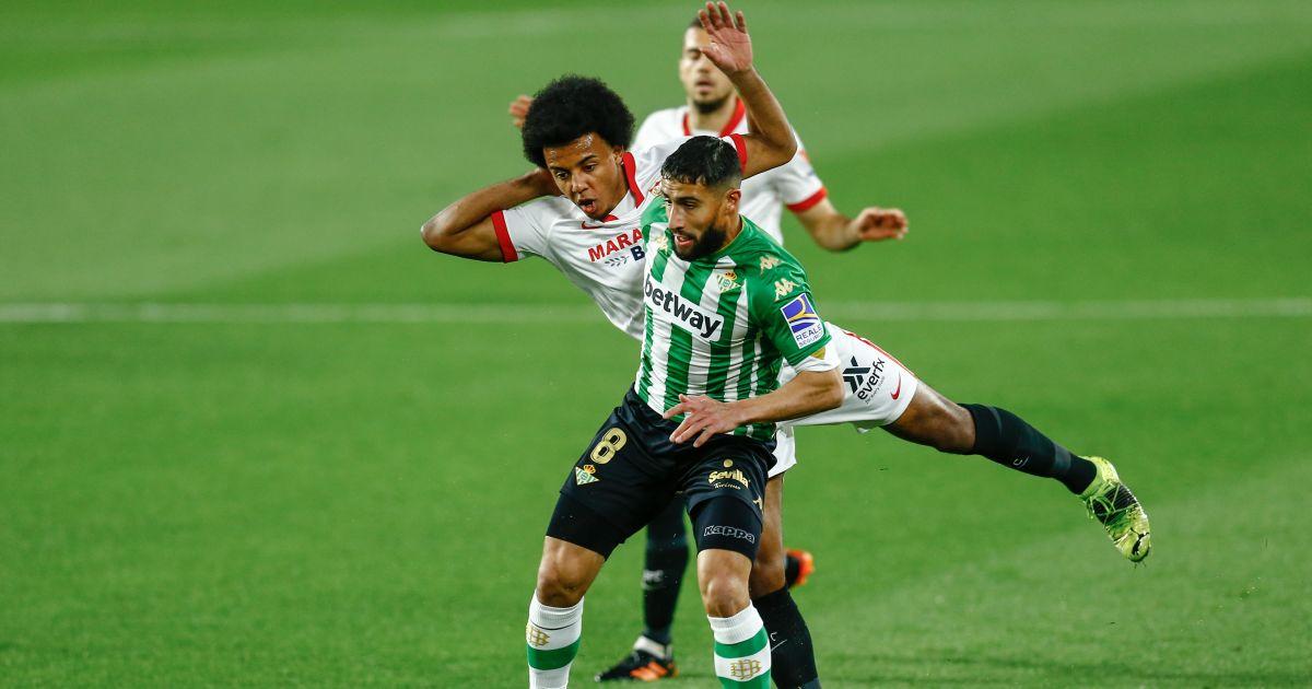 Jules Kounde, Nabil Fekir Sevilla v Real Betis March 2021