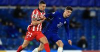 Mario Hermoso, Kai Havertz Chelsea v Atletico Madrid March 2021