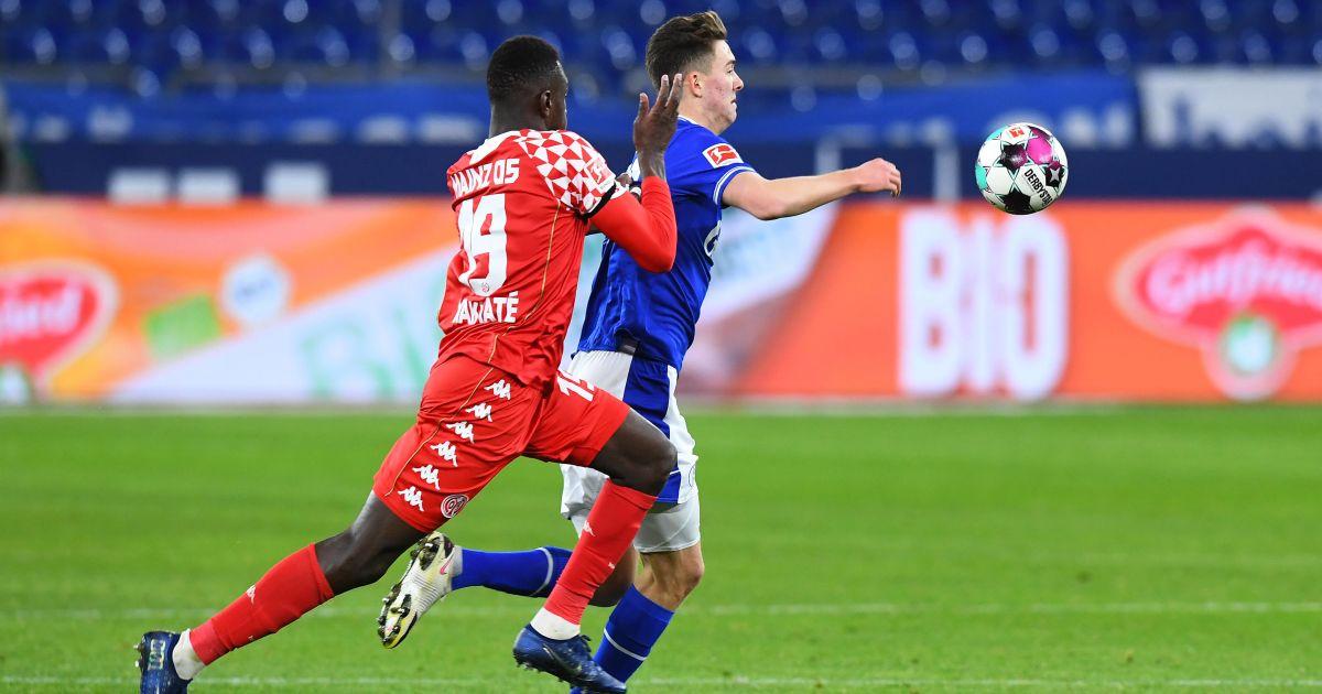 Moussa Niakhate, Matthew Hoppe Schalke v Mainz March 2021
