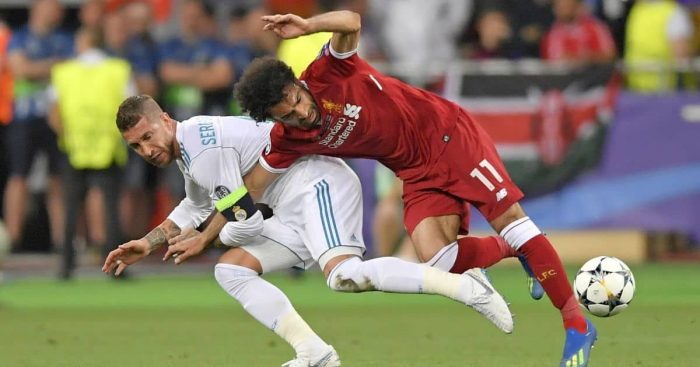 Sergio Ramos, Mohamed Salah Real Madrid v Liverpool May 2018