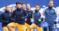 Heung-min Son, Toby Alderweireld, Sergio Reguilon, Harry Kane, Tottenham
