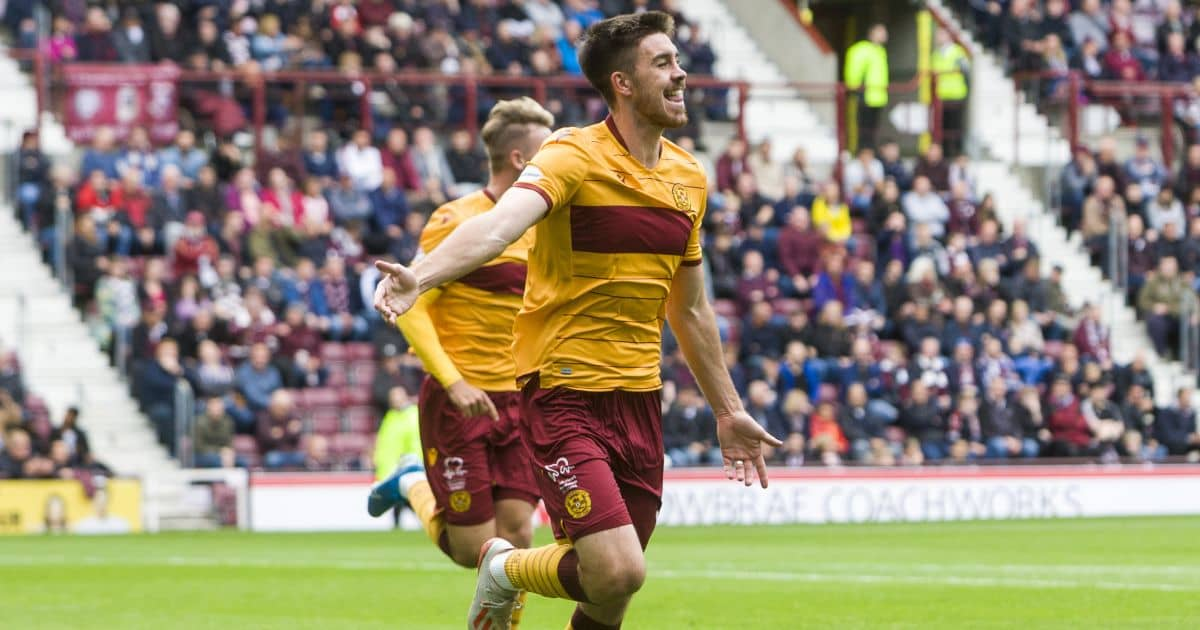 Declan Gallagher Hearts v Motherwell September 2019