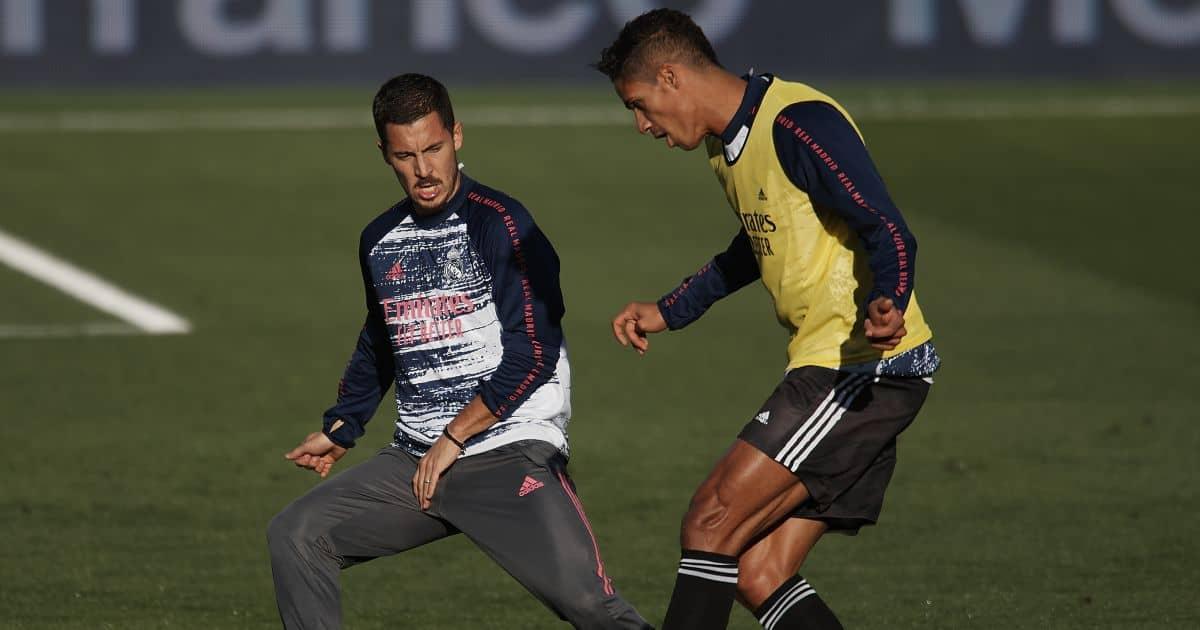 Eden Hazard, Raphael Varane Villarreal v Real Madrid November 2020