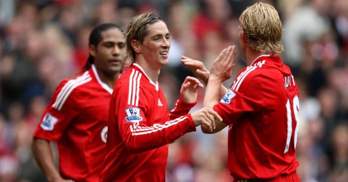 Fernando Torres, Dirk Kuyt Liverpool September 2009