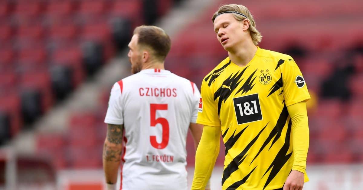 Erling Haaland Koln v Borussia Dortmund March 2021
