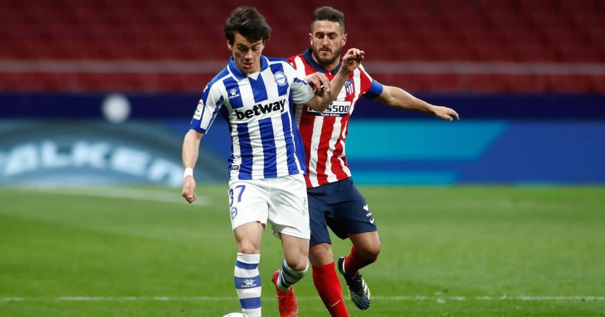 Facundo Pellistri, Koke Atletico Madrid v Alaves March 2021