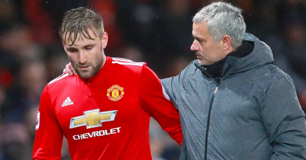 Luke Shaw, Jose Mourinho Man Utd