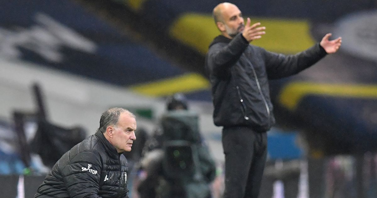 Marcelo Bielsa Leeds, Pep Guardiola Man City TEAMtalk
