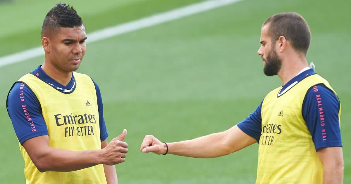 Casemiro, Nacho Real Madrid training