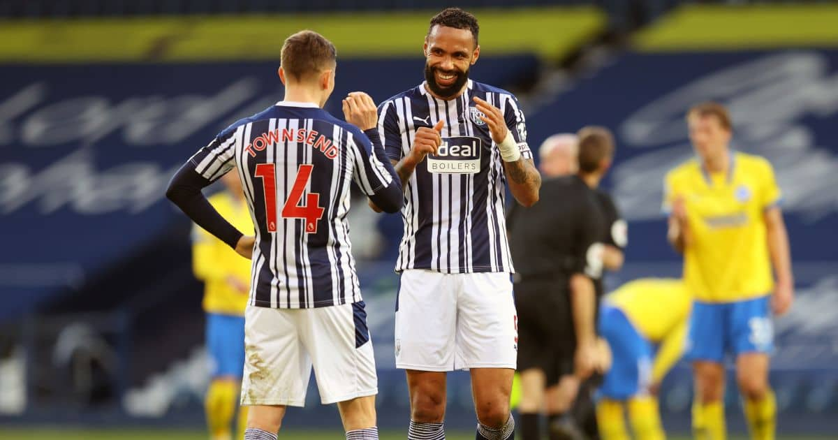Conor Townsend, Kyle Bartley West Brom v Brighton February 2021