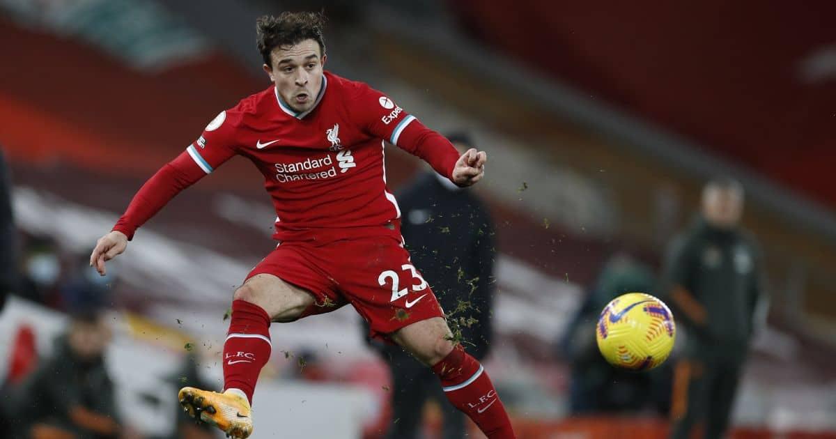 Xherdan Shaqiri Liverpool v Man Utd January 2021
