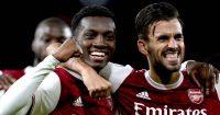 Eddie Nketiah, Dani Ceballos Arsenal v West Ham September 2020