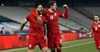 Aleksandar Mitrovic, Dusan Vlahovic Serbia v Ireland March 2021