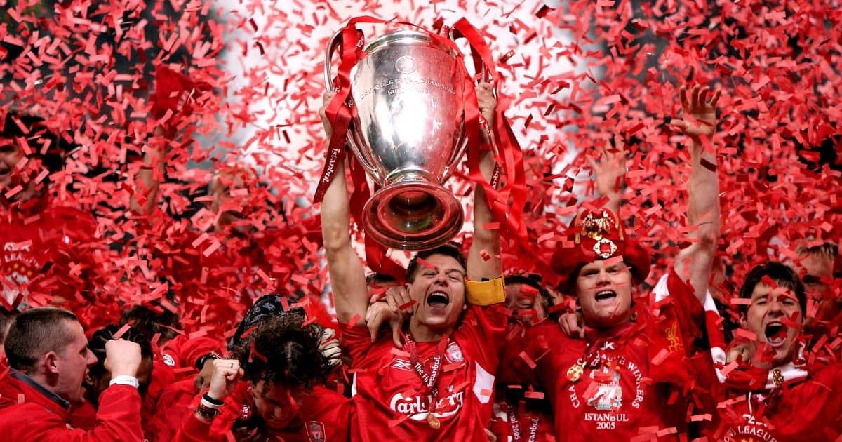 Gerrard Liverpool Champions League trophy TEAMtalk