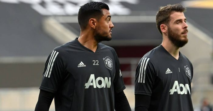 Sergio Romero, David de Gea Man Utd August 2020