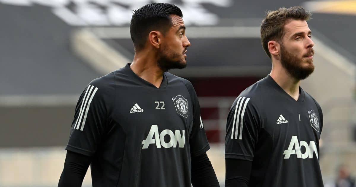 Sergio Romero, David de Gea Man Utd August 2020