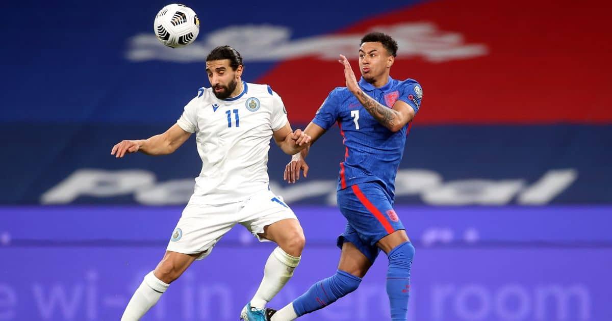 Jesse Lingard England v San Marino March 2021