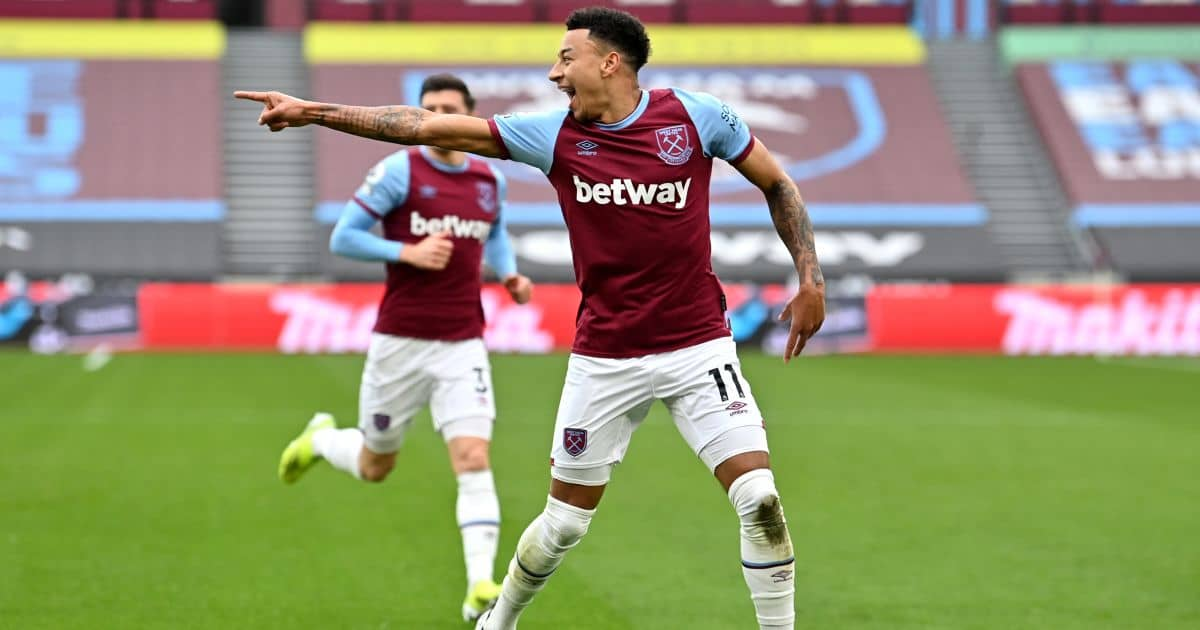 Jesse Lingard West Ham v Arsenal March 2021
