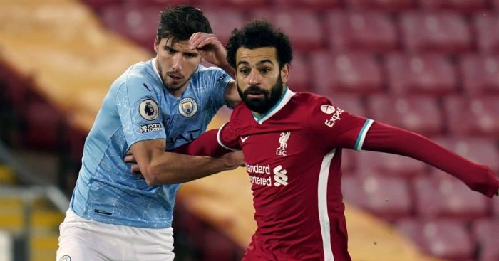 Ruben Dias, Mohamed Salah, Liverpool v Man City