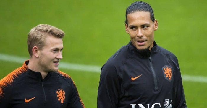 Matthijs de Ligt, Virgil van Dijk Netherlands October 2019