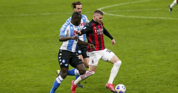 Kalidou Koulibaly, Ante Rebic AC Milan v Napoli March 2021