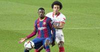 Ousmane Dembele, Jules Kounde Barcelona v Sevilla March 2021