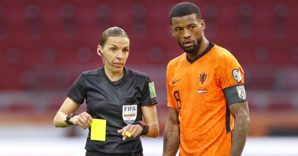Georginio Wijnaldum, referee Stephanie Frappart